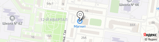 Магазин женской одежды на карте Тольятти