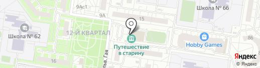 Пух-платок на карте Тольятти