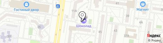 Шоколад на карте Тольятти