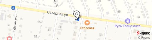Магазин продуктов на карте Русской Борковки