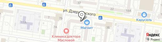 Крыша на карте Тольятти