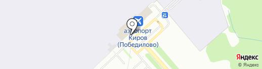 Кристалл Аэро на карте Кирова