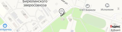 Магазин хозяйственных товаров на карте Бирюлинскога зверосовхоза
