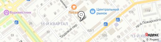 Объединенное представительство авиакомпаний на карте Тольятти