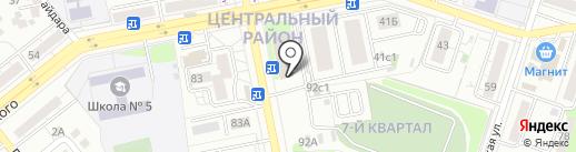Непроспи на карте Тольятти