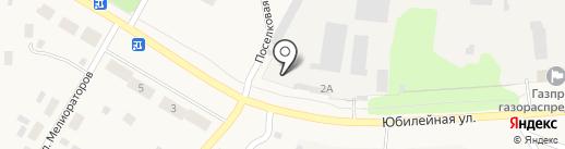 Лянгасовская эксплуатационная служба на карте Бахты