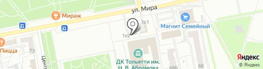 Магазин пряжи и вязанных изделий на карте Тольятти