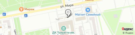 Бирюза на карте Тольятти