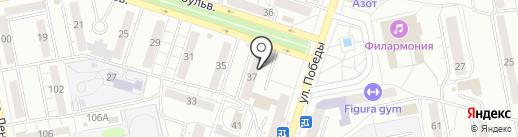 Автошкола на карте Тольятти