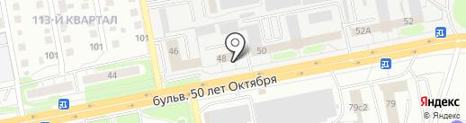 Пул-Строй на карте Тольятти