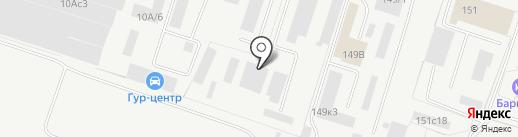 Гидрорез на карте Тольятти