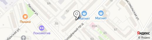 Солнечный на карте Кирова