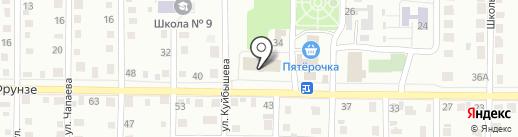 Библиотека №5 на карте Жигулёвска