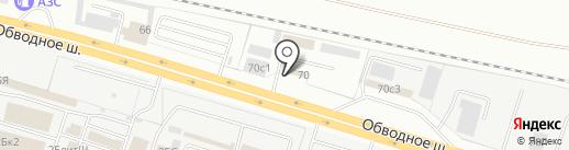 Авторазбор на Обводном на карте Тольятти