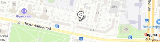 Комсомольский на карте Тольятти