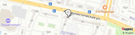 ЛАЗУРЭЛЬ на карте Тольятти