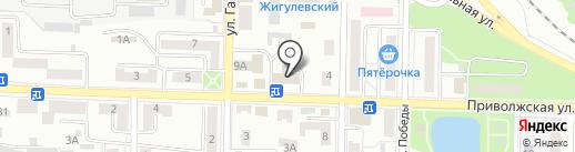 Баня на Приволжской на карте Жигулёвска