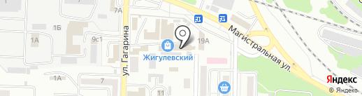 Дин на карте Жигулёвска