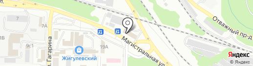 Магистраль на карте Жигулёвска