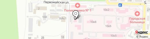 Центральная городская больница на карте Жигулёвска
