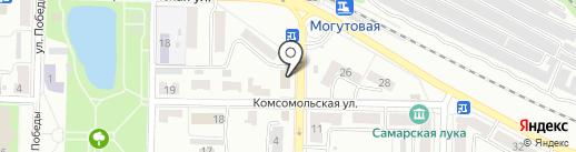 Отдел сводных статистических работ г. Жигулёвска на карте Жигулёвска