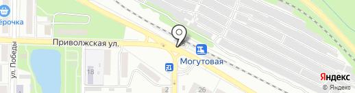 Жигулевское со дна на карте Жигулёвска