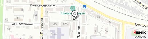 Ю.Г. на карте Жигулёвска