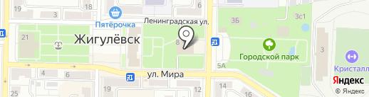 Лайм на карте Жигулёвска
