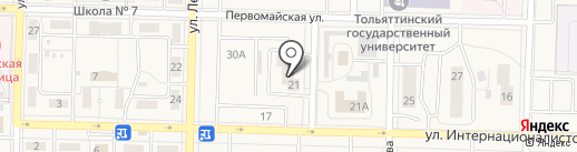 21 на карте Жигулёвска