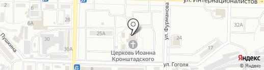 Храм во имя святого праведного Иоанна Кронштадтского на карте Жигулёвска