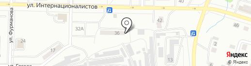 Союз на карте Жигулёвска