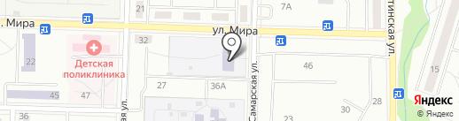 Основная общеобразовательная школа №3 на карте Жигулёвска