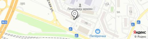 Магазин одежды и обуви на карте Тольятти