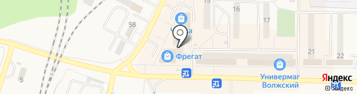Урания на карте Жигулёвска