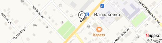 Магазин хозтоваров на карте Васильевки