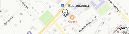 Продуктовый магазин на ул. Мира на карте Васильевки
