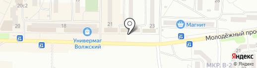 Хлебница на карте Жигулёвска