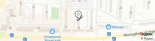 Электрон на карте Жигулёвска