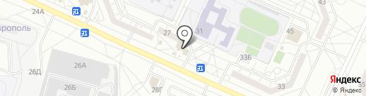 Привозъ на карте Тольятти