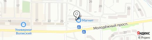 Эльфа на карте Жигулёвска