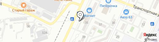 Магазин рыбы на карте Жигулёвска