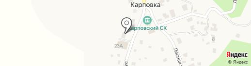 Карповская сельская школа среднего общего образования на карте Карповки