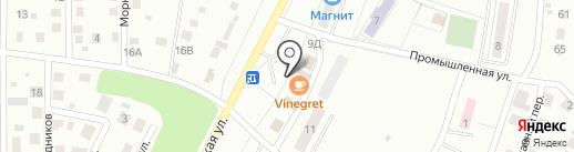 Киоск по продаже хлебобулочных изделий на карте Жигулёвска