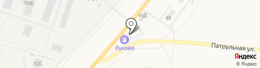 АЗС Лукойл на карте Васильевки