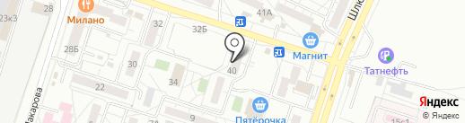 Фабричная марка на карте Тольятти