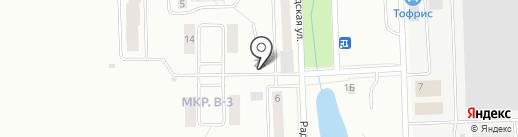 Росич на карте Жигулёвска