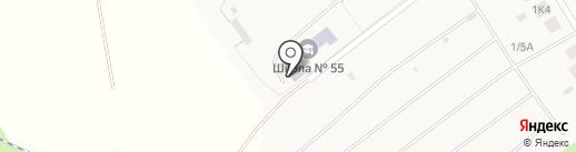 Средняя общеобразовательная школа №55 на карте Ганино