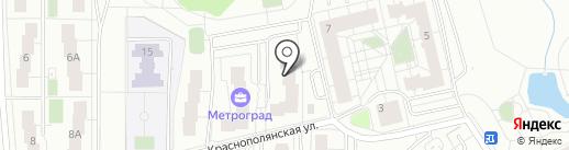 Метроград на карте Кирова
