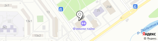 Спортивная секция по боксу на карте Кирова