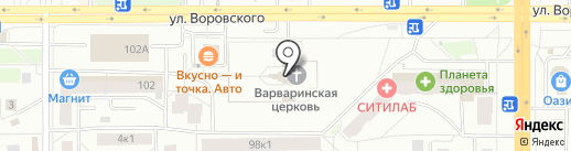 Храм Великомученика Пантелеимона целителя на карте Кирова